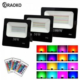 Projecteur RGB 30w 50w 100w à télécommande