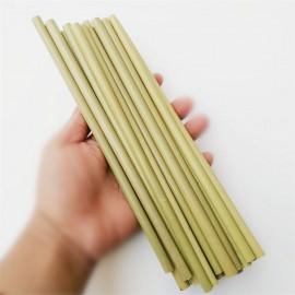 100 x pailles bambou réutilisables en 20cm (Avec brosse)