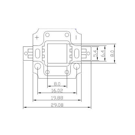 LED 10w BLEU de rechange (12v)