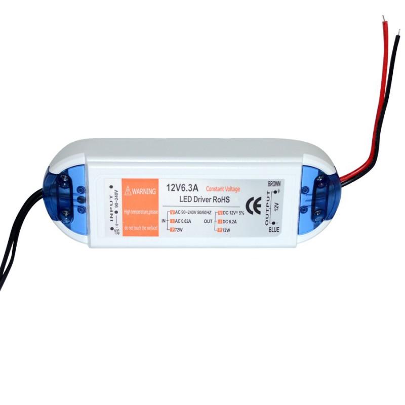 Transformateur 12v / 6,3A pour LED