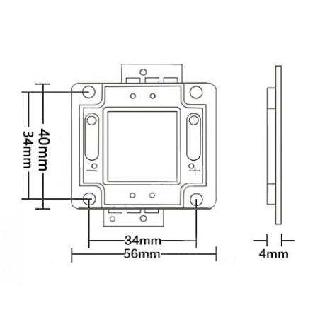 LED COB 50w de rechange (32-34v)