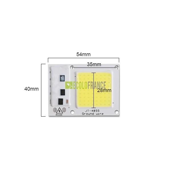 led 20w 220v sans transformateur. Black Bedroom Furniture Sets. Home Design Ideas