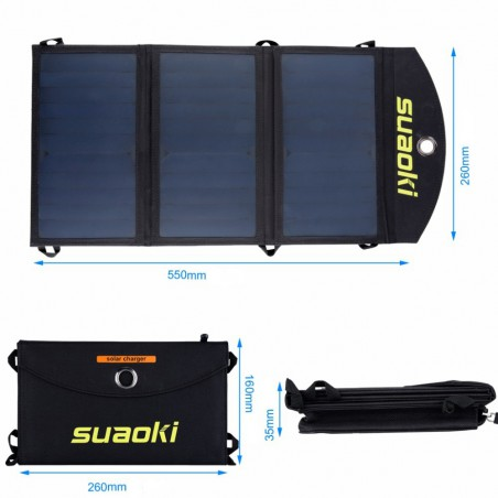 Chargeur solaire 7w pliable