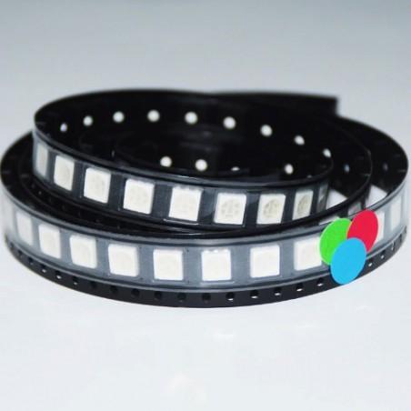 5 x Led SMD 5050 (Rouge bleu jaune vert RGB)