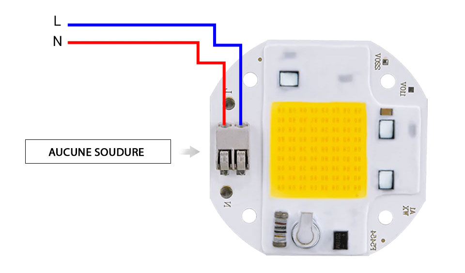 LED 100w sans soudure