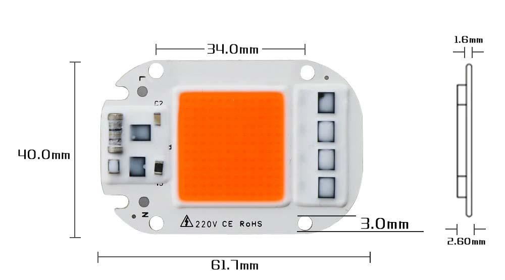 LED CHIP 50w Lampe de croissance