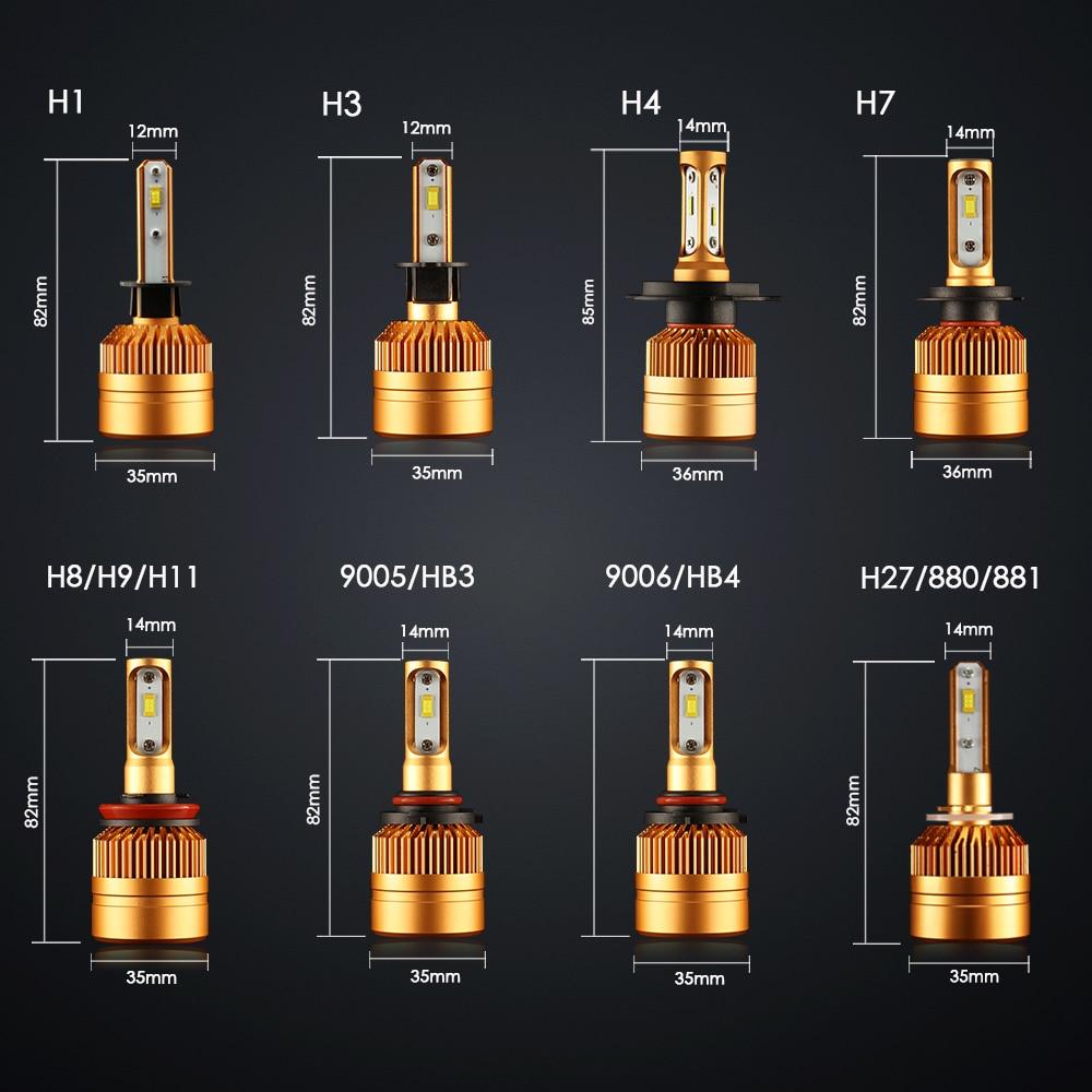 ampoule led phare voiture h4 h7 h11 h8 9006 hb4 h1 h3 hb3. Black Bedroom Furniture Sets. Home Design Ideas