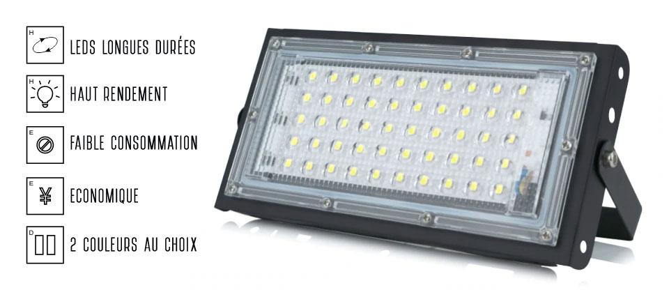 Projecteur LED 50w pas cher