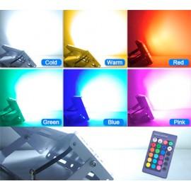 Projecteur LED étanche ultra plat 50w REGB avec télécommande
