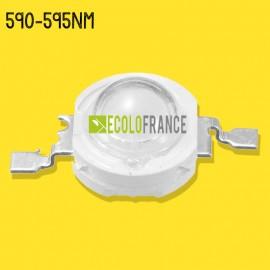 LED 3W  590-595nm (jaune) 3.0-3.4 V / 600-700mA