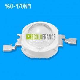 LED 3W 460-470nm (bleu clair) 3.0-3.4 V / 600-700mA