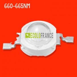 LED 3W 660-665nm (rouge) 3.0-3.4 V / 600-700mA