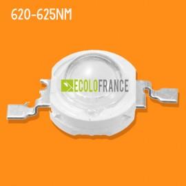 LED 3w 620-625nm Orange-Rouge 2.2v-2.6v