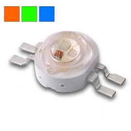 LED RGB 3x1w 4 pins