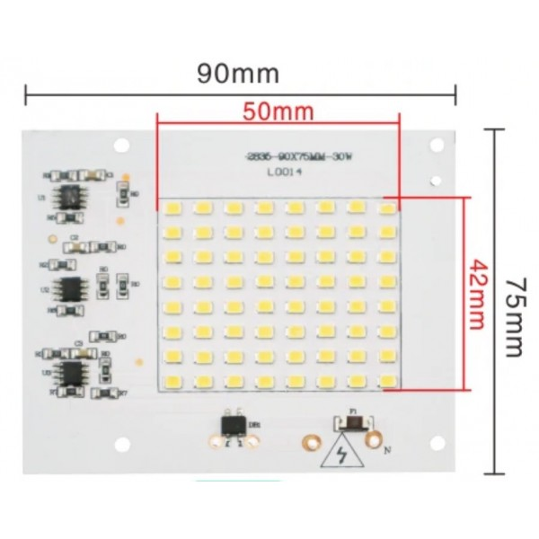 Platine LED 10,20,30,50,100w SMD 2835