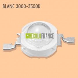 LED 1W BLANC 3000-3500K 3.2-3.6 V