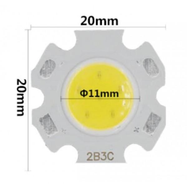 LED COB ic004 - 3w (20x20mm) - 4K