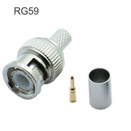 2 x Connecteur RG59 BNC mâle