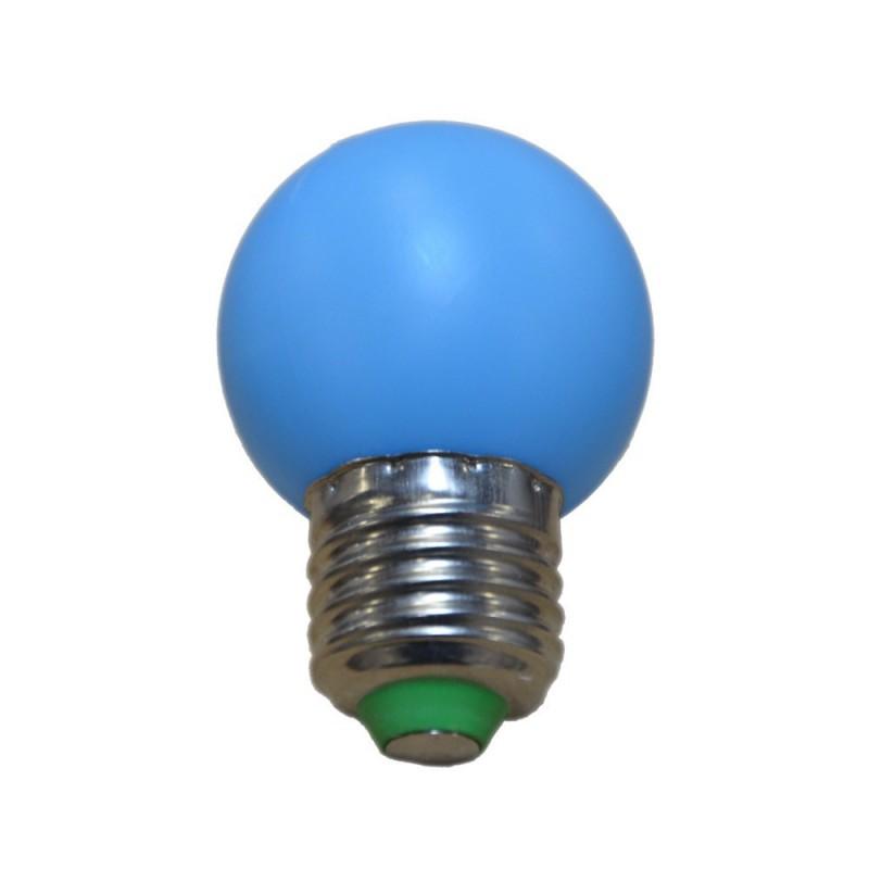 Ampoule LED 1 W couleur E27 (Bleu)